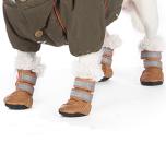 Boots w fleece inside - Brown/Brown w Crystals 4 Pcs