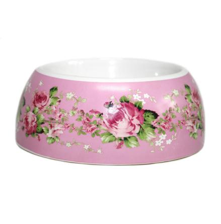Rose Dreams Bowl - Pink/Flowers