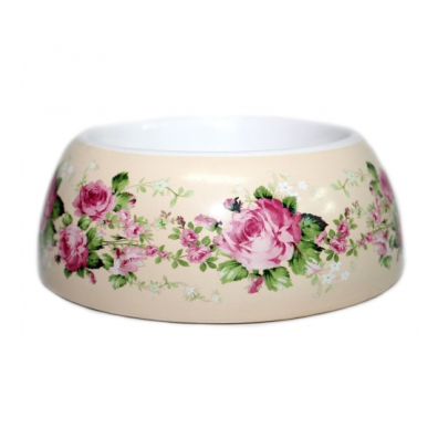 Rose Dreams Bowl - Cream/Flowers