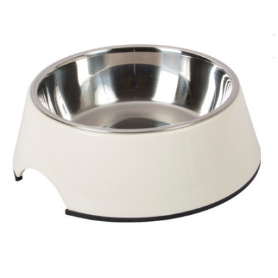 Straight Dog Bowl Melamin - White