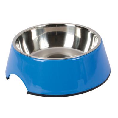 Straight Dog Bowl Melamin - Blue