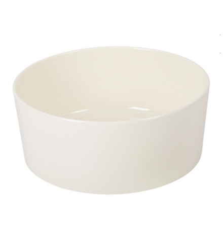 Single Round Dog Bowl Melamin - White