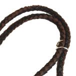 Round Braided Leash W:16mm L:160cm - Black/Brown