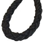 Round Braided Leash W:16mm L:220cm - Black