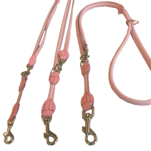 Round Adjustable Leash - Baby Pink