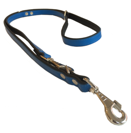 Flat Leash 2 colors W:20mm L:220cm - Blue/Black