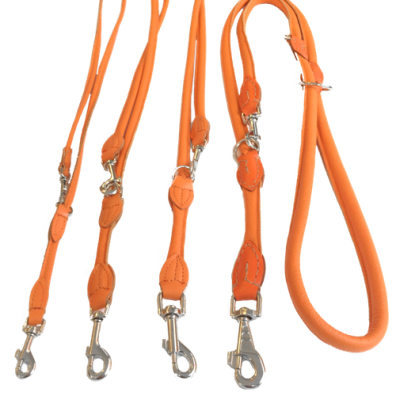 Round Ajustable Leash - Orange