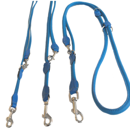 Round Adjustable Leash - Blue