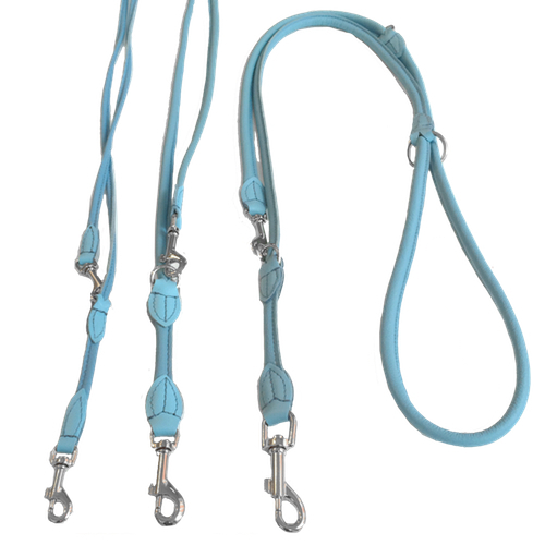 Round Adjustable Leash - Baby Blue