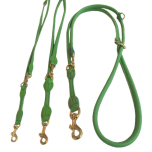 Round Adjustable Leash Brass Buckle - Green