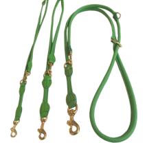 Round Ajustable Leash Brass Buckle - Green