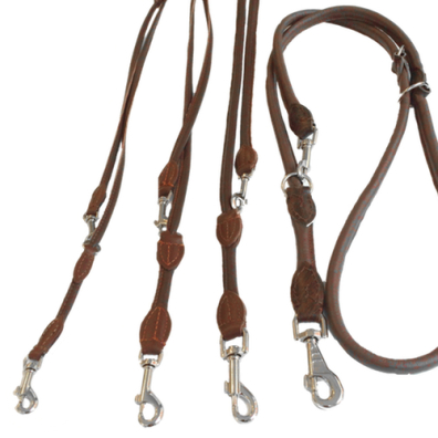 Round Ajustable Leash - Brown