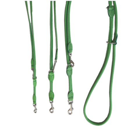Round Adjustable Leash - Green