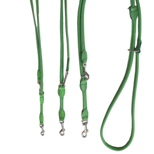 Round Adjustable Leash - Green