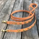 Genuine Alp Leash w Brass Buckle - Light Brown