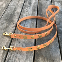 Genuine Alp Leash w Brass Buckle - Light Brown