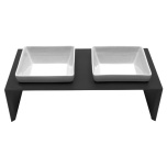 Maebashi Double Bowl Wooden Table - Black
