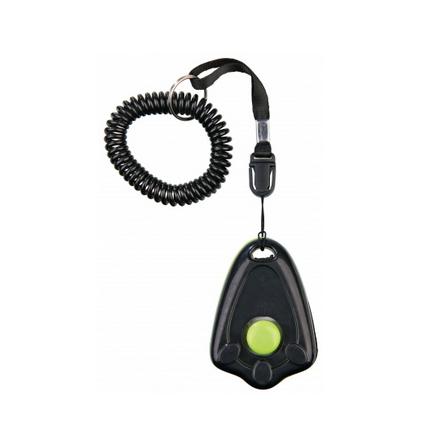 Clicker Dogtraining w Wristband - Green/Black L:6cm