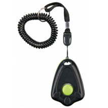 Clicker Dogtraining w Wristband - Green/Black L:6cm