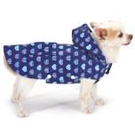 Rain Coat w Hearts - Blue