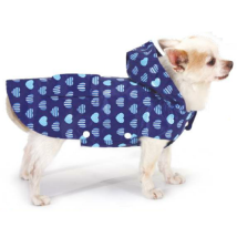 Rain Coat w Hearts - Blue