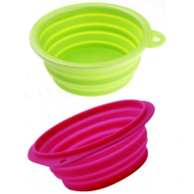 Travel Bowl Silicon 500ml - Mixed colors Pink/Green