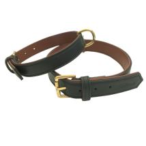 Carmel Leather Collar Brass - Black/Brown
