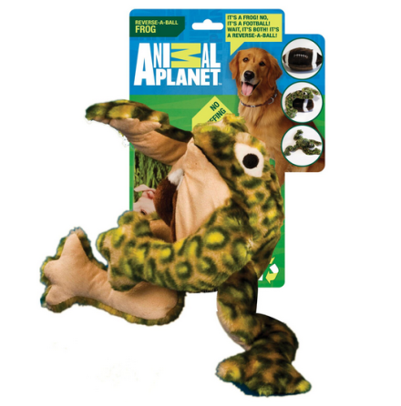Dog Toy Reversible Frog