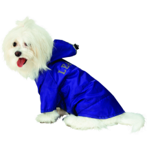 Rain Coat w detachable Hood - Indigo Blue
