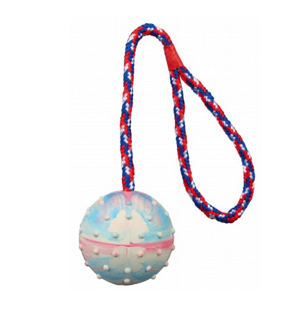 Ball w Rope Natural Rubber 6cm