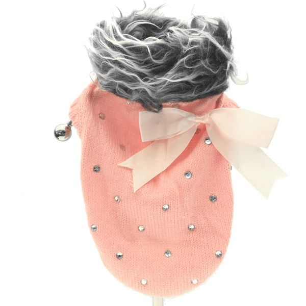 Pullover w Bow - Pink