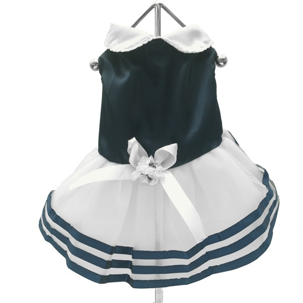 Blue Satin Sea Dress