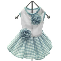 Checked Picnic Dress White/Blue