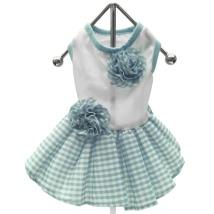 Checked Picnic Dress White/Blue