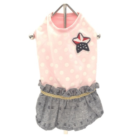 Pink Usa flag jeans dress