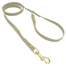 Elegantis Beige Leash w Brass Buckle 120cm