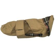 Beige oilskin coat