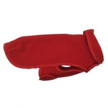 Double Layer Fleece Coat - Red