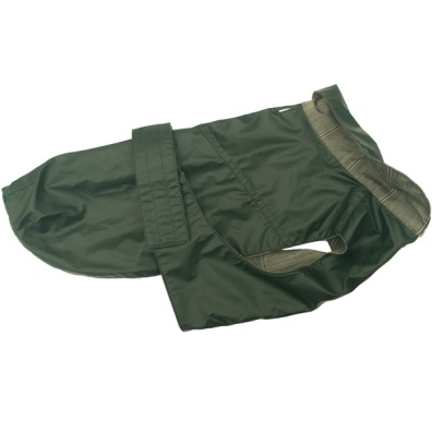 Pug/FrBulldog Green oilskin coat - Waterproof