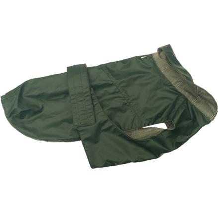 Pug/FrBulldog Green oilskin coat - Waterproof