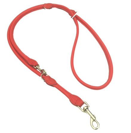Round Adjustable Leash - Red