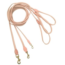 Round Leash w Brass Buckle - Baby Pink