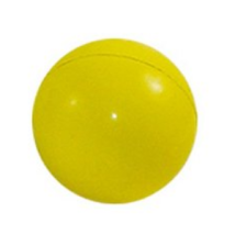 Hard Rubber Ball 7cm - Yellow