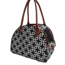 Memphis Rounded Bag- Black and White 41x21x30CM