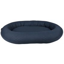 Oval Bed with Rounded Brim - Blue