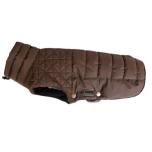 Linden Quilted Fleece Coat - Brown