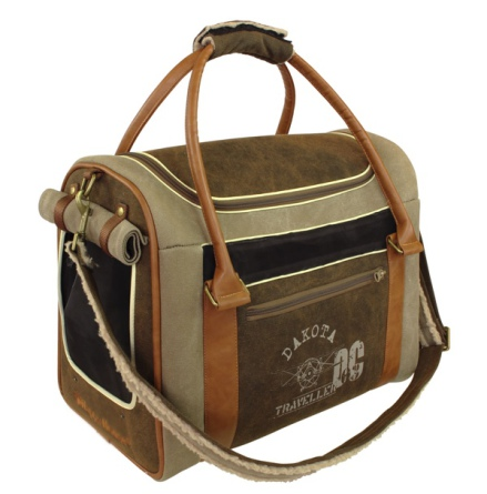 Dakota-Inn Bag - Khaki/Brown 40x30x20cm