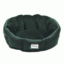 Round Bed Green Velvet