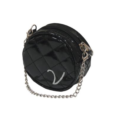 Poo Bag Holder Round w Chain - Black