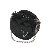 Poo Bag Holder Round w Chain - Black
